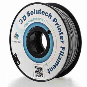 3D Solutech Real Grey 1.75mm PETG 3D Printer Filament 2.2 LBS (1.0KG) - PETG175GRY for $24