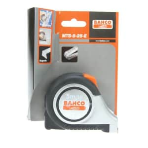 Bahco MTS-5-25-E Tape Measure - Stainless Steel Construction Grade, 1 x 16-FOOT for $34