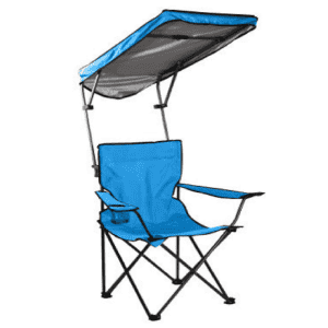 Quik Shade Adjustable Canopy Folding Chair for $30