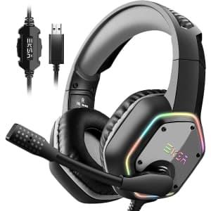 EKSA USB Gaming Headset for $28