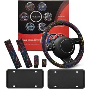 """Niceasy 15"""" Steering Wheel Cover for $8"""