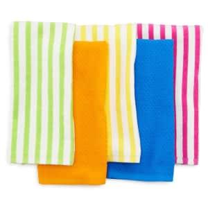 Celebrate Summer Together Cabana Stripe Kitchen Towel 5-Pack for $9