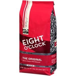 Eight O'Clock Coffee Eight O'Clock Whole Bean Coffee, The Original, 36 Ounce for $11