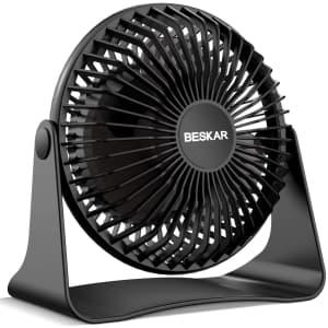 """Beskar 6"""" 10,000mAh USB Desk Fan for $13"""