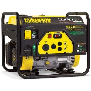 Champion Power Equipment 3,500W Portable Generator for $395
