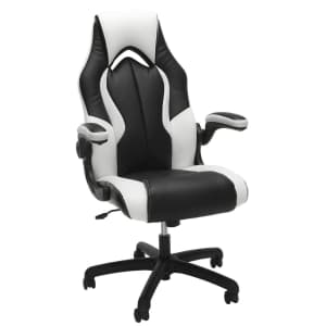 OFM Essentials Bonded Leather High-Back Racing Style Gaming Chair for $106