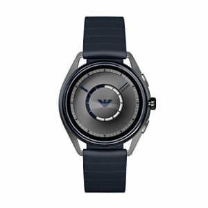 Emporio Armani Men's Stainless Steel Plated Touchscreen Smartwatch, Color: Navy (Model: ART5008) for $430