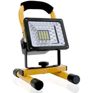 Hallomall 15W Rechargeable LED Work Spotlight w/ USB for $35