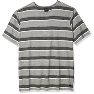 RVCA Men's Repeater Stripe Short Sleeve Crew Neck Shirt, Black, S for $34