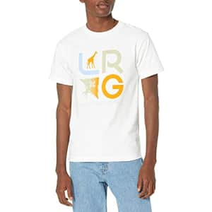 LRG Lifted Research Group Men's Graphic Design Logo T-Shirt, White Slogan, 2XL for $14