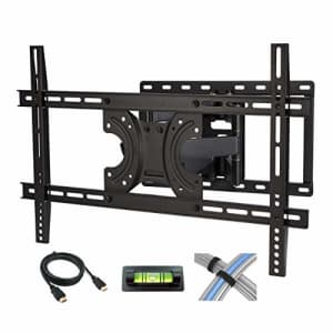 Atlantic Full Motion TV Wall Mount - Dual Articulating Arm, Full Motion Design with 5 Degree up and for $48