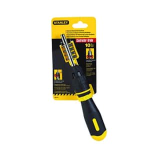 Stanley Tools 68010 3 inch Multi-Bit Ratcheting Screwdriver, 10 Bits, Black/Yellow for $17