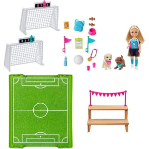 Barbie Dreamhouse Adventures Chelsea Doll w/ Soccer Playset for $13
