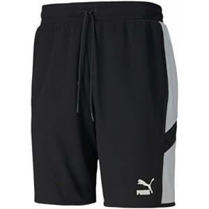 "PUMA Men's Iconic MCS Shorts 8"", Black White, S for $35"