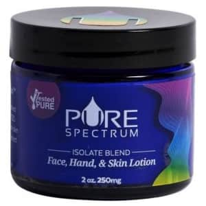 Pure Spectrum 250mg Isolate Blend CBD Lotion for $15