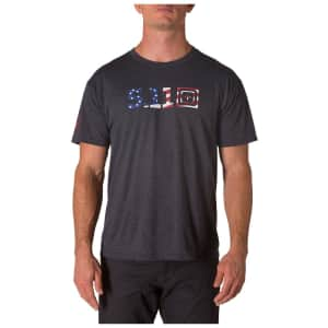 5.11 Tactical Men's Legacy USA Flag T-Shirt for $12