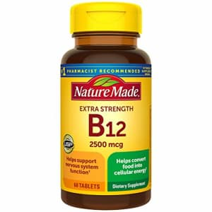 Nature Made Extra Strength Vitamin B12 2500 mcg Tablets, 60 Count (Packaging May Vary) for $25