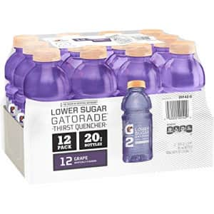 Gatorade G2 Thirst Quencher, Grape, 20 Ounce Bottles (Pack of 12) (Packaging May Vary) for $8