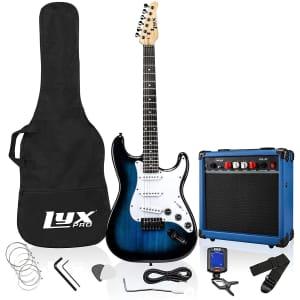 "LyxPro 39"" Electric Guitar Kit Bundle for $170"