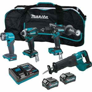 Makita GT401M1D1 40V Max XGT Brushless Lithium-Ion 1-1/4 in. Cordless Reciprocating Saw 4-Tool for $649