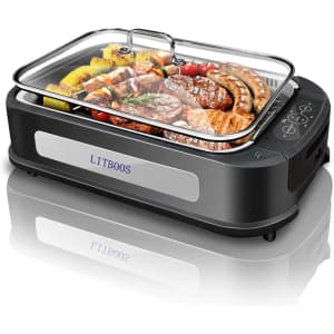 Litboos 1,500W Non-Stick Smokeless Indoor Grill for $105