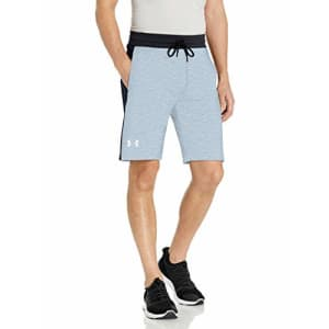 Under Armour Men's Sportstyle Fleece Graphic Shorts, Overcast Gray /White, Large for $70