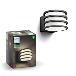 Philips Hue Lucca White Outdoor Lantern (Hub Required), Smart Outdoor Wall Fixture and 1 Hue White for $143