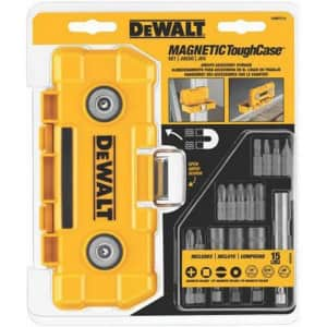 DeWalt Magnetic Tough Case Set w/ 15 Accessories for $13