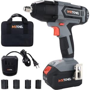 Mxtovel 20V Cordless Impact Wrench Set for $50