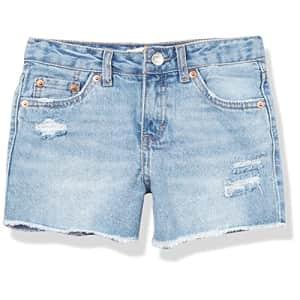 Levi's Girls' Denim Shorty Shorts, Newport Beach, 7 for $32