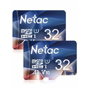 Netac 32GB Micro SD Card 2-Pack, MicroSDHC Card 32GB Memory Card - UHS-I, 90MB/s, 600X, U1, C10, for $8