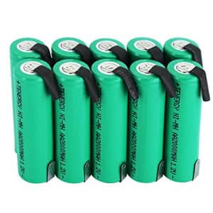 Tenergy 10 Pack NiMH AA 2000mAh Flat Top Rechargeable Batteries w/Tabs for $20