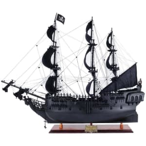 Old Modern Handicrafts Black Pearl Pirate Ship for $670
