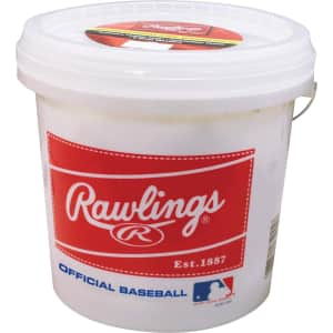 Rawlings Official League Baseballs 24-Ball Bucket for $30