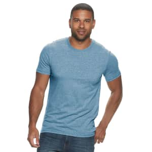 Sonoma Goods For Life Men's Supersoft Solid Crewneck T-Shirt for $7