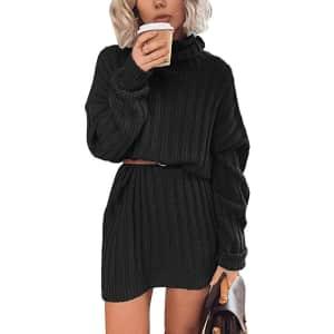 Ospetty Women's Oversized Turtleneck Sweater for $12