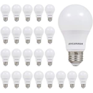 Sylvania 60W-Equivalent A19 LED Light Bulb 24-Pack for $15