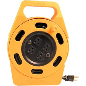 Woods 4-Outlet Power Caddy 25-Foot Extension Cord Reel for $22