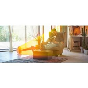 DeLonghi De'Longhi Ceramic Compact Heater, Quiet 1500W, Digital Adjustable Thermostat, 3 Heat Settings, for $109