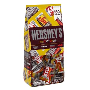 Hershey's Miniatures Assorted Chocolate Candy 180-Piece Bag for $12 for members
