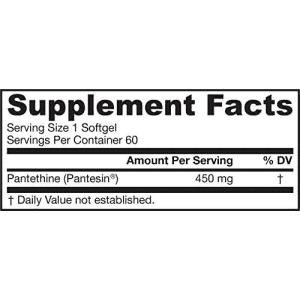 Jarrow Formulas Pantethine, Supports Lipid Metabolism, 450 mg, 60 Softgels for $20