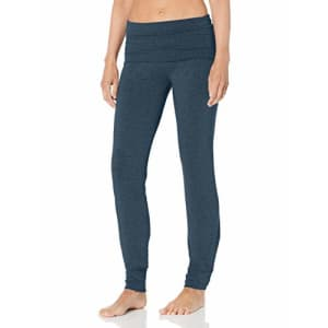 Splendid Women's Studio Activewear Fitness Workout Convertible Bottom Pants, Moonlight Blue Marled, for $56