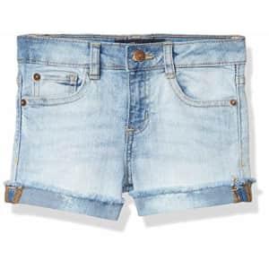 Lucky Brand Girls' 5-Pocket Cuffed Stretch Denim Short, Riley Tori Wash, 6X for $35
