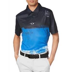 Oakley Men's Color Block Shade Polo, Uniform Blue, XS for $44