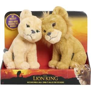 Disney's The Lion King Nuzzling Simba and Nala Plush for $14