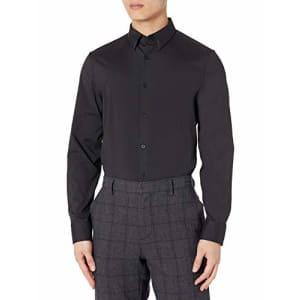 Calvin Klein Men's Move 365 Athleisure Logo Crewneck T-Shirt Long Sleeve, Black, Medium for $48