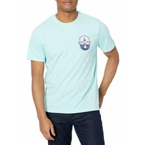 IZOD Men's Saltwater Short Sleeve Graphic T-Shirt, Blue Tint Ocean Light, X-Large for $14