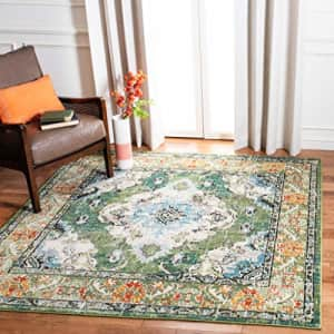 SAFAVIEH Monaco Collection MNC243F Boho Chic Medallion Distressed Non-Shedding Living Room Bedroom for $80