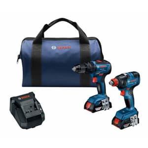 Bosch 2-Tool 18V Brushless Power Tool Combo Kit with 2 Batteries for $249