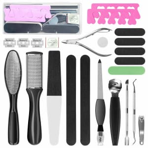 Manords 20-Piece Pedicure Kit for $12